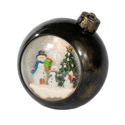 Christmas Bauble Water Filled Lantern Snowman Scene - ChristmasBaubleDSC_1142.jpg