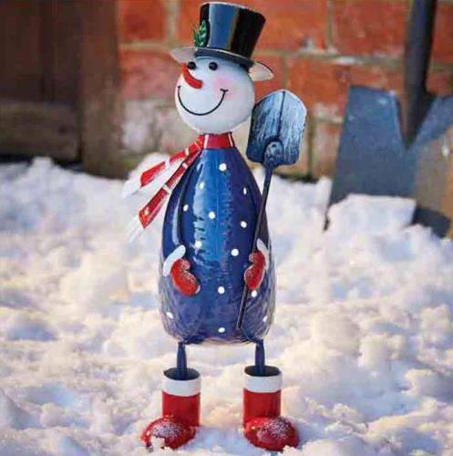 Polka Wobble Mr Frosty Snowman Christmas Ornament - Frosty6321278.jpg