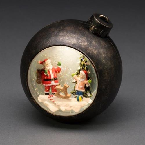 Christmas Bauble Water Filled Lantern Santa and Child Scene - SantaBauble4362-000-Copy.jpg