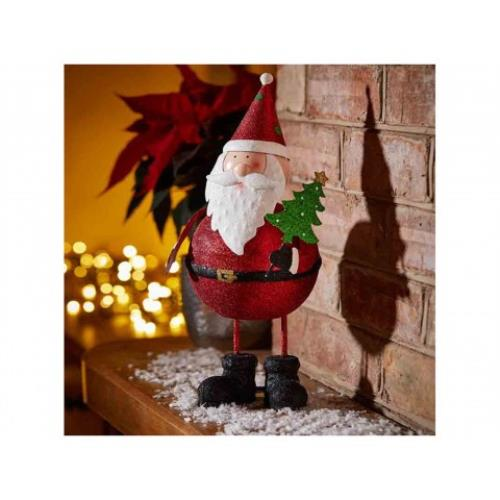 Christmas Sparkly Wobble Santa Decoration Figurine - SparklyWobbleDecorationSanta.jpg